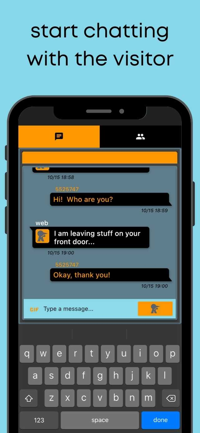 start chatting with the visitor